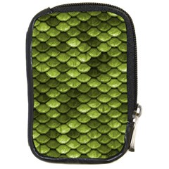 Green Mermaid Scales   Compact Camera Cases by paulaoliveiradesign