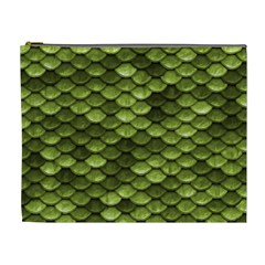 Green Mermaid Scales   Cosmetic Bag (xl) by paulaoliveiradesign