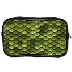 Green Mermaid Scales   Toiletries Bags by paulaoliveiradesign