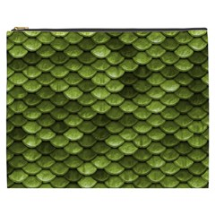 Green Mermaid Scales   Cosmetic Bag (xxxl)  by paulaoliveiradesign