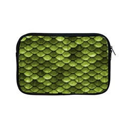 Green Mermaid Scales   Apple Macbook Pro 13  Zipper Case by paulaoliveiradesign