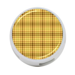 Plaid Yellow Fabric Texture Pattern 4 Port Usb Hub (one Side) by paulaoliveiradesign