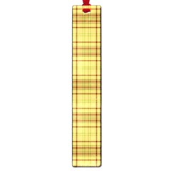 Plaid Yellow Fabric Texture Pattern Large Book Marks by paulaoliveiradesign