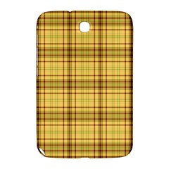 Plaid Yellow Fabric Texture Pattern Samsung Galaxy Note 8 0 N5100 Hardshell Case  by paulaoliveiradesign