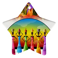 African American Women Star Ornament (two Sides) by AlteredStates