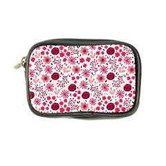 Red Floral Seamless Pattern Coin Purse by TastefulDesigns