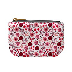 Red Floral Seamless Pattern Mini Coin Purses by TastefulDesigns