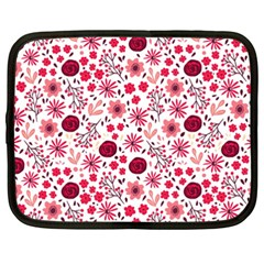 Red Floral Seamless Pattern Netbook Case (xxl)  by TastefulDesigns