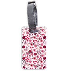 Red Floral Seamless Pattern Luggage Tags (one Side)  by TastefulDesigns