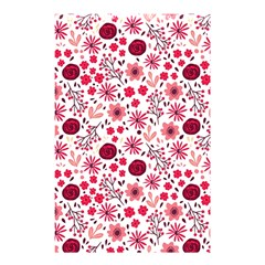 Red Floral Seamless Pattern Shower Curtain 48  X 72  (small)  by TastefulDesigns