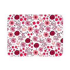 Red Floral Seamless Pattern Double Sided Flano Blanket (mini)  by TastefulDesigns