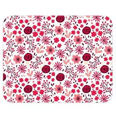 Red Floral Seamless Pattern Double Sided Flano Blanket (medium)  by TastefulDesigns