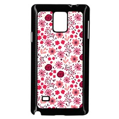 Red Floral Seamless Pattern Samsung Galaxy Note 4 Case (black) by TastefulDesigns