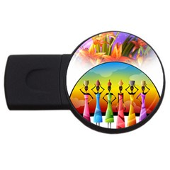 African American Women Usb Flash Drive Round (4 Gb) by BlackisBeautiful