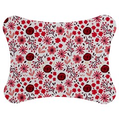 Red Floral Seamless Pattern Jigsaw Puzzle Photo Stand (bow) by TastefulDesigns
