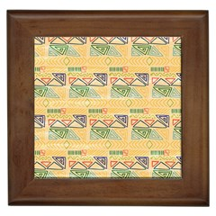 Hand Drawn Ethinc Pattern Background Framed Tiles by TastefulDesigns