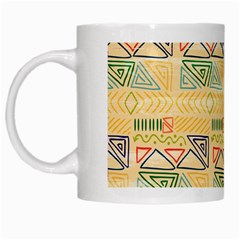 Hand Drawn Ethinc Pattern Background White Mugs by TastefulDesigns