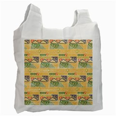 Hand Drawn Ethinc Pattern Background Recycle Bag (one Side) by TastefulDesigns