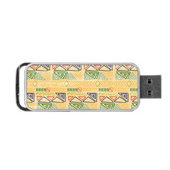 Hand Drawn Ethinc Pattern Background Portable Usb Flash (one Side) by TastefulDesigns