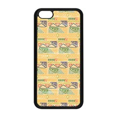 Hand Drawn Ethinc Pattern Background Apple Iphone 5c Seamless Case (black) by TastefulDesigns