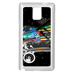 Patterns Circles Lines Stripes Colorful Rainbow 20251 3840x2400 Samsung Galaxy Note 4 Case (white) by amphoto