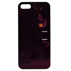 Wolf Night Alone Dark 11349 3840x2400 Apple Iphone 5 Hardshell Case With Stand by amphoto
