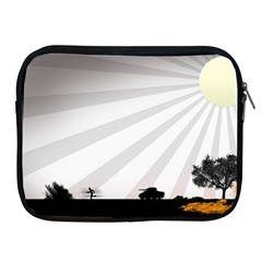 Shooting Tank Person Tree Sun  Apple Ipad 2/3/4 Zipper Cases by amphoto