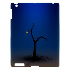 Tree Lonely Blue Orange Dark  Apple Ipad 3/4 Hardshell Case by amphoto