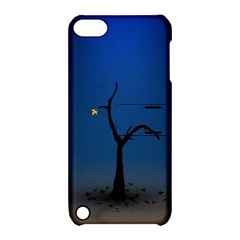 Tree Lonely Blue Orange Dark  Apple Ipod Touch 5 Hardshell Case With Stand by amphoto