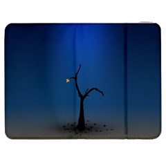 Tree Lonely Blue Orange Dark  Samsung Galaxy Tab 7  P1000 Flip Case by amphoto