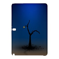 Tree Lonely Blue Orange Dark  Samsung Galaxy Tab Pro 10 1 Hardshell Case by amphoto