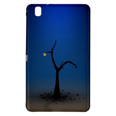 Tree Lonely Blue Orange Dark  Samsung Galaxy Tab Pro 8 4 Hardshell Case by amphoto