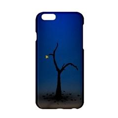 Tree Lonely Blue Orange Dark  Apple Iphone 6/6s Hardshell Case