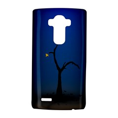 Tree Lonely Blue Orange Dark  Lg G4 Hardshell Case by amphoto