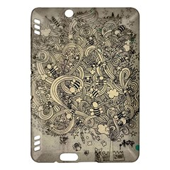 Patterns Dog Line Shape  Kindle Fire Hdx Hardshell Case by amphoto