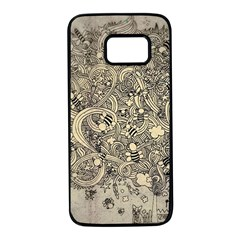 Patterns Dog Line Shape  Samsung Galaxy S7 Black Seamless Case by amphoto