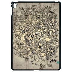 Patterns Dog Line Shape  Apple Ipad Pro 9 7   Black Seamless Case by amphoto