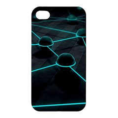 3d Balls Rendering Lines  Apple Iphone 4/4s Hardshell Case by amphoto