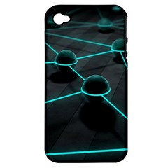3d Balls Rendering Lines  Apple Iphone 4/4s Hardshell Case (pc+silicone) by amphoto