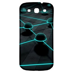 3d Balls Rendering Lines  Samsung Galaxy S3 S Iii Classic Hardshell Back Case by amphoto
