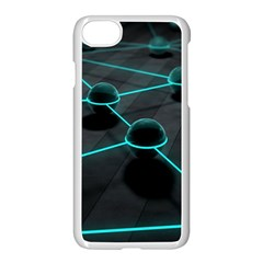 3d Balls Rendering Lines  Apple Iphone 7 Seamless Case (white) by amphoto