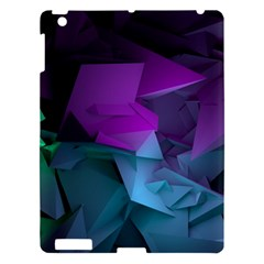 Abstract Shapes Purple Green  Apple Ipad 3/4 Hardshell Case by amphoto