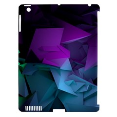 Abstract Shapes Purple Green  Apple Ipad 3/4 Hardshell Case (compatible With Smart Cover) by amphoto