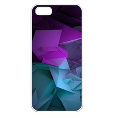Abstract Shapes Purple Green  Apple Iphone 5 Seamless Case (white) by amphoto