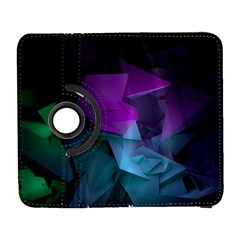 Abstract Shapes Purple Green  Galaxy S3 (flip/folio) by amphoto