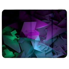 Abstract Shapes Purple Green  Samsung Galaxy Tab 7  P1000 Flip Case by amphoto