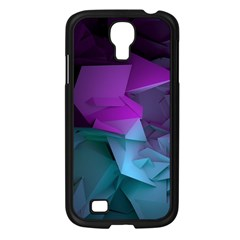 Abstract Shapes Purple Green  Samsung Galaxy S4 I9500/ I9505 Case (black) by amphoto