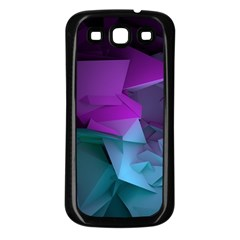 Abstract Shapes Purple Green  Samsung Galaxy S3 Back Case (black) by amphoto