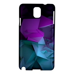 Abstract Shapes Purple Green  Samsung Galaxy Note 3 N9005 Hardshell Case by amphoto