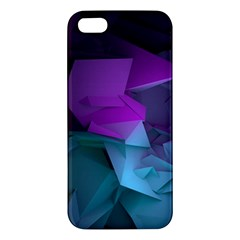 Abstract Shapes Purple Green  Iphone 5s/ Se Premium Hardshell Case by amphoto